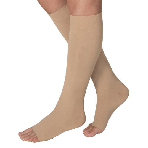 Bsn Jobst Large Open Toe Opaque Knee High 15 20mmhg Moderate Compression Stockings In Petite