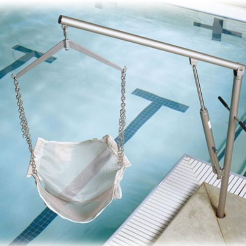 Hoyer classics hydraulic pool lift pool lifts for Hydraulic chair lift for swimming pool