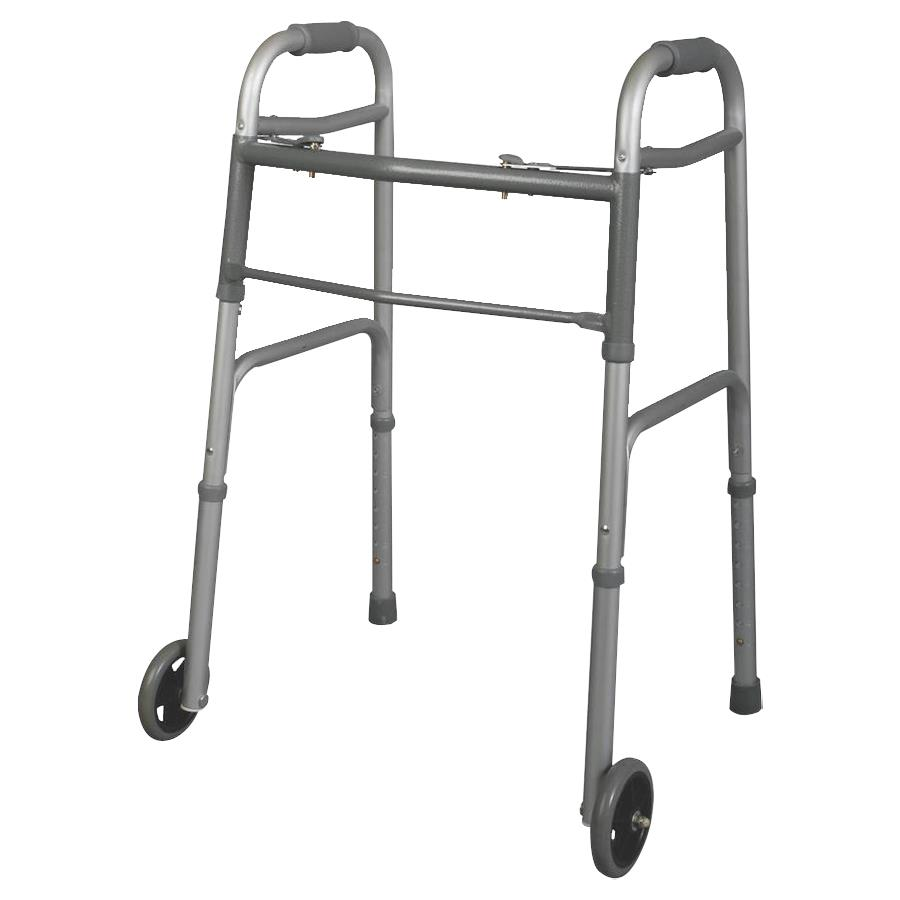 Groovy Medline Youth Two Button Folding Walkers With 5 Inches Wheels Gmtry Best Dining Table And Chair Ideas Images Gmtryco