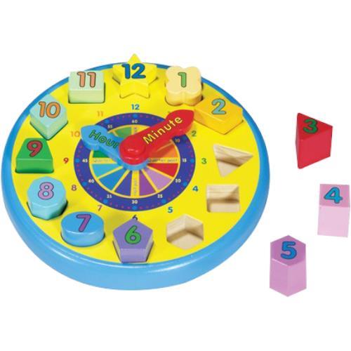 Melissa & Doug Wooden Shape Sorting Clock   Learning Toys