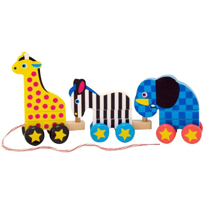 Melissa And Doug Educational Toys : Melissa doug pull along zoo animals toy learning toys