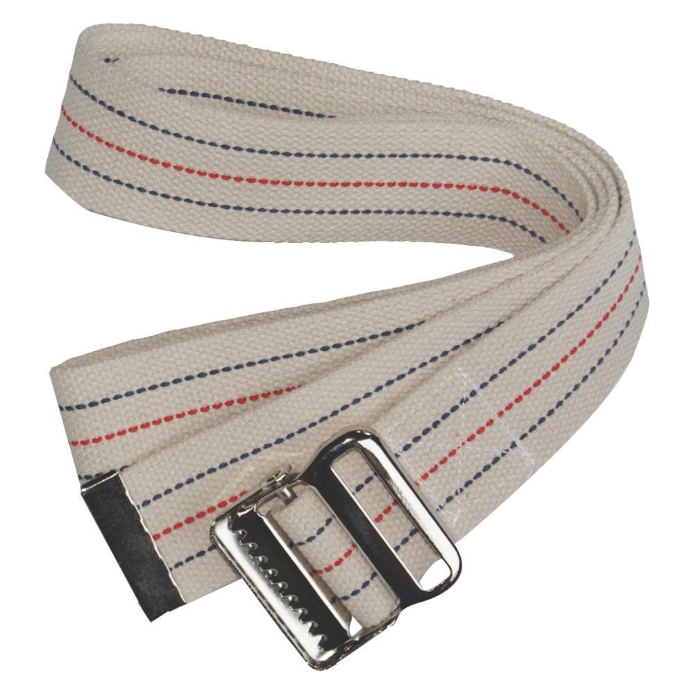 Skil-Care Pinstripe White Gait Belt