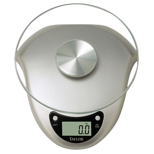 Taylor 3831S Silver Digital Kitchen Scale