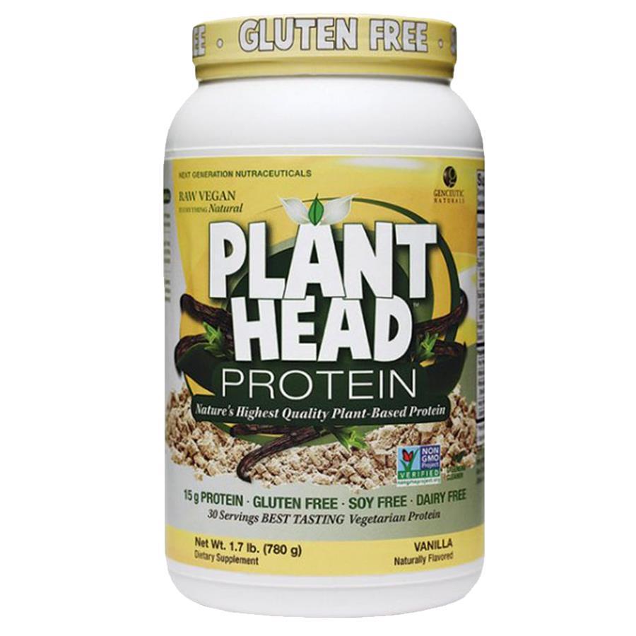 Genceutic Naturals Plant Head Protein Powder Vanilla