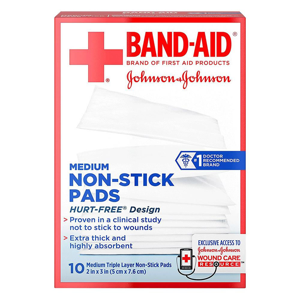 band aid first aid nonstick gauze pad gauze