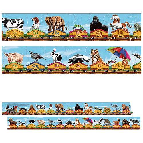 Melissa U0026 Doug Alphabet Train Floor Puzzle