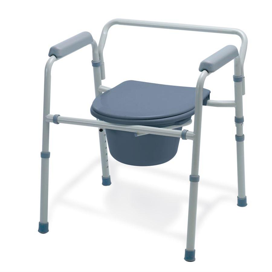 Guardian 3-In-1 Basic Steel Folding Commode | Commode Chairs