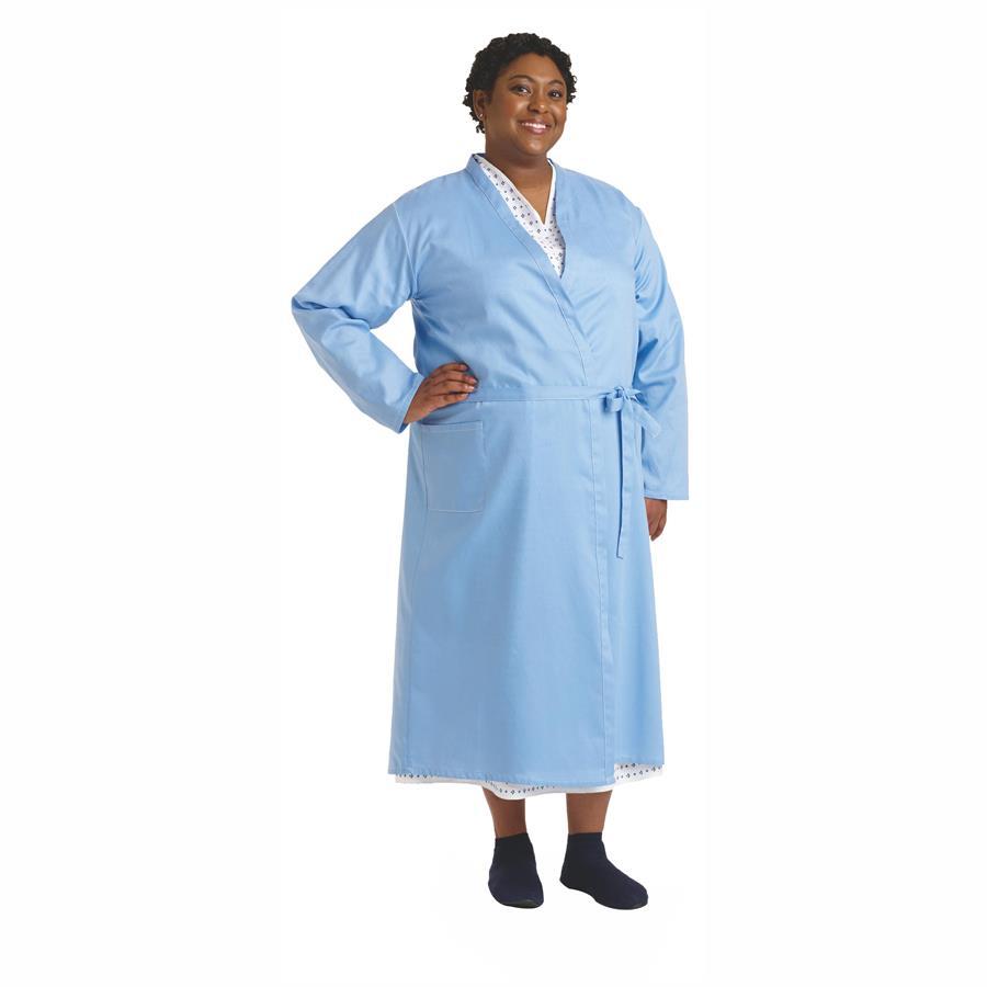 Medline Demure Cloth Patient Robe   Patient Wear
