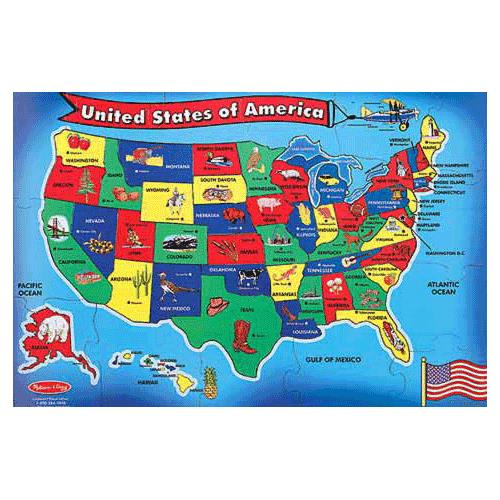 Melissa Doug United States of America Map Puzzle Puzzles