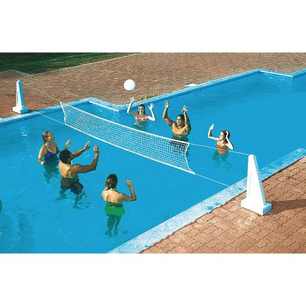 Swimline pool jam combo inground volleyball basketball for Pool design for volleyball