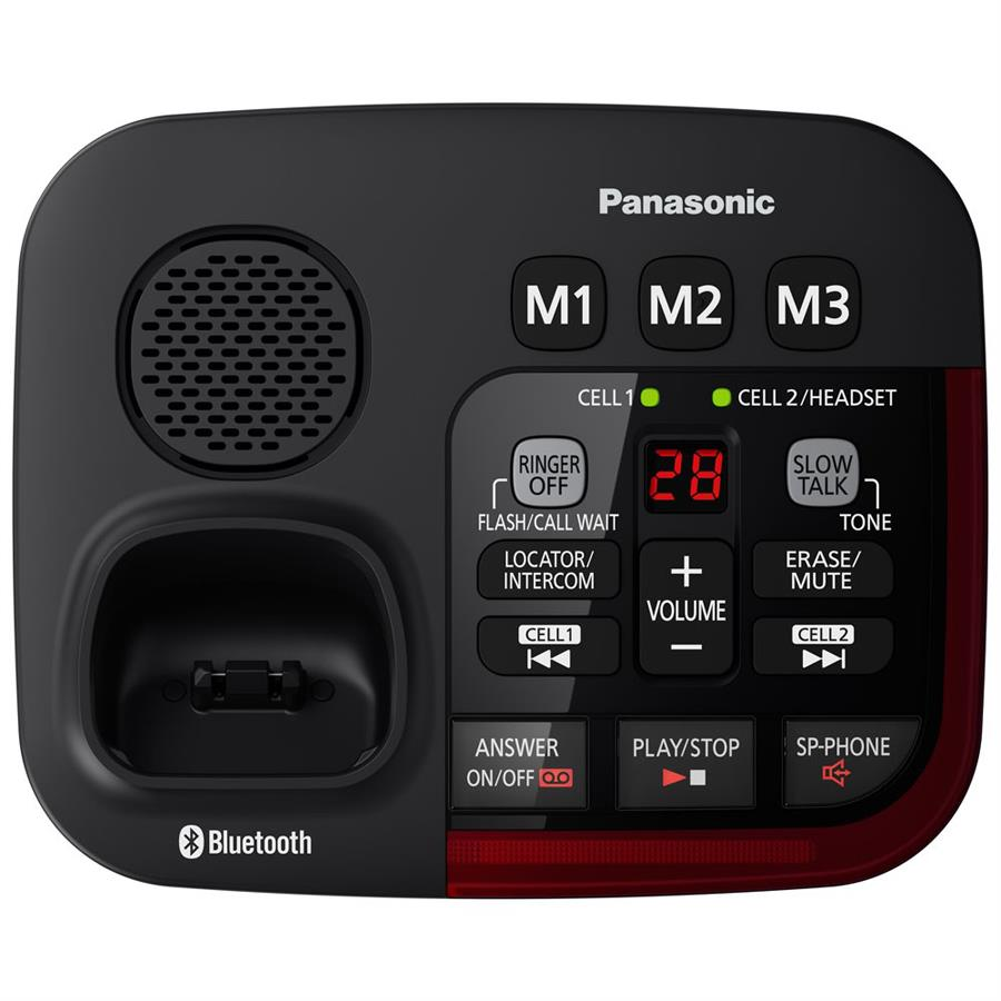 Panasonic Link2cell Bluetooth Amplified Cordless Phone With Digital Wireless Intercom Ac Power Line Systems Up To 1000 Base