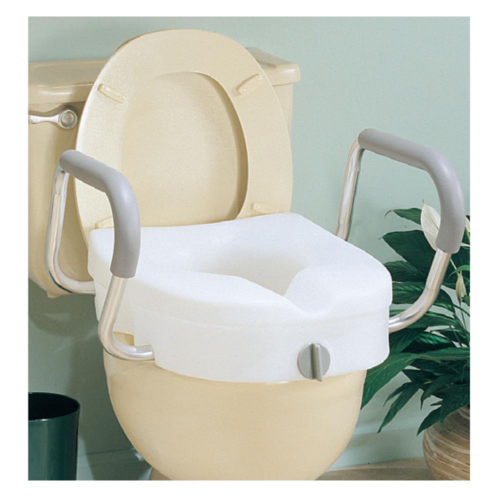 Carex Ez Lock Raised Toilet Seat With Adjustable Handles
