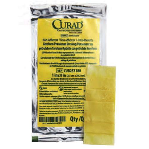 Curad Xeroform Sterile Petrolatum Gauze Dressing - Non Adherent