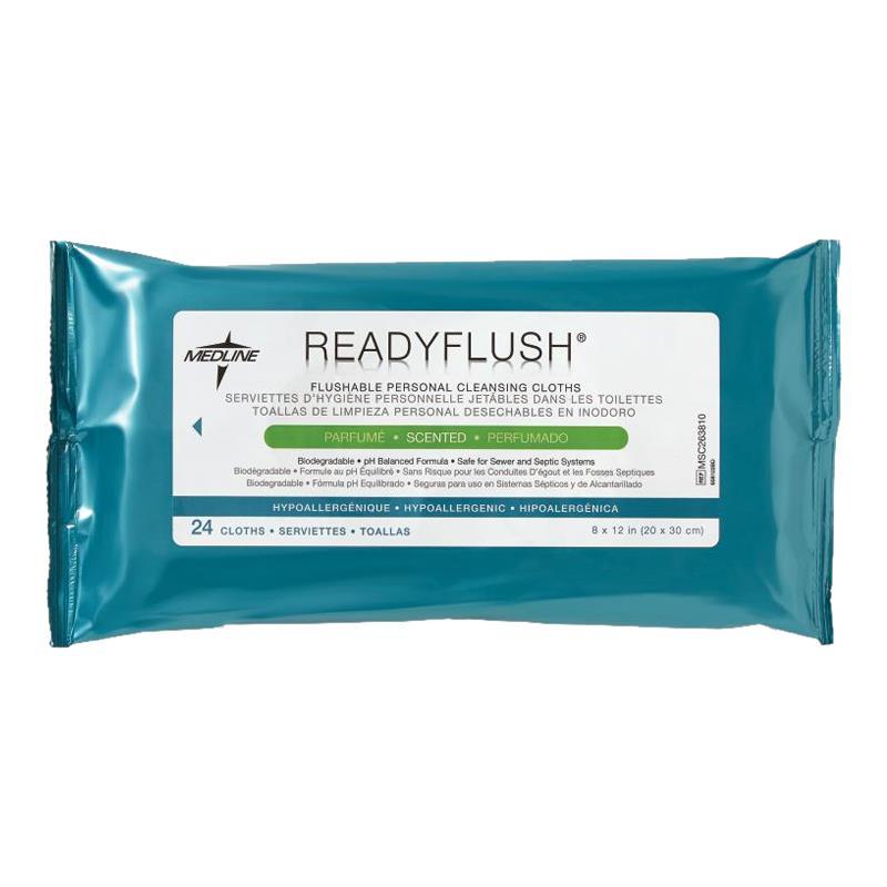 Medline ReadyFlush Biodegradable Flushable Wipes Refill