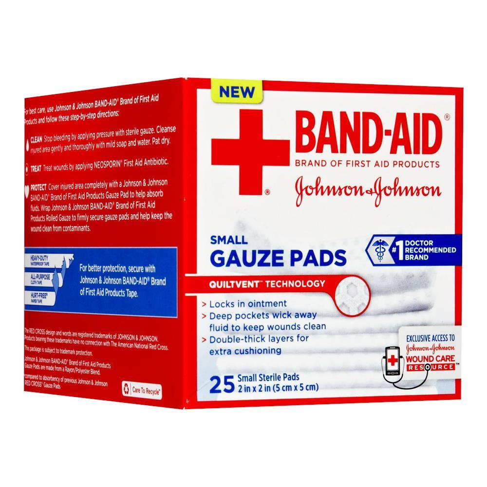 johnson johnson band aid gauze pads gauze