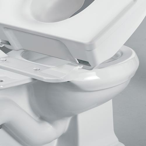 Locking Elevated Toilet Seat With Support Handles Raised