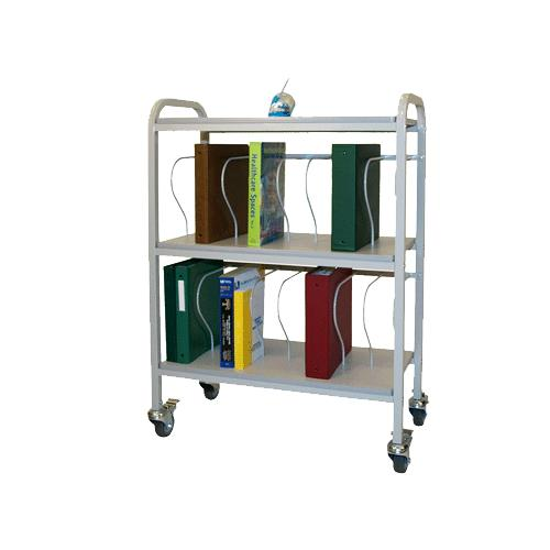 Winco Rolling Ring Binder Cart Medical Cart