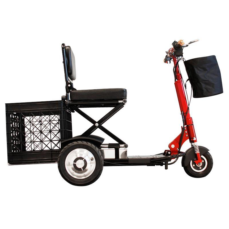 ewheels ew 01 speedy portable folding scooter 3 wheel. Black Bedroom Furniture Sets. Home Design Ideas
