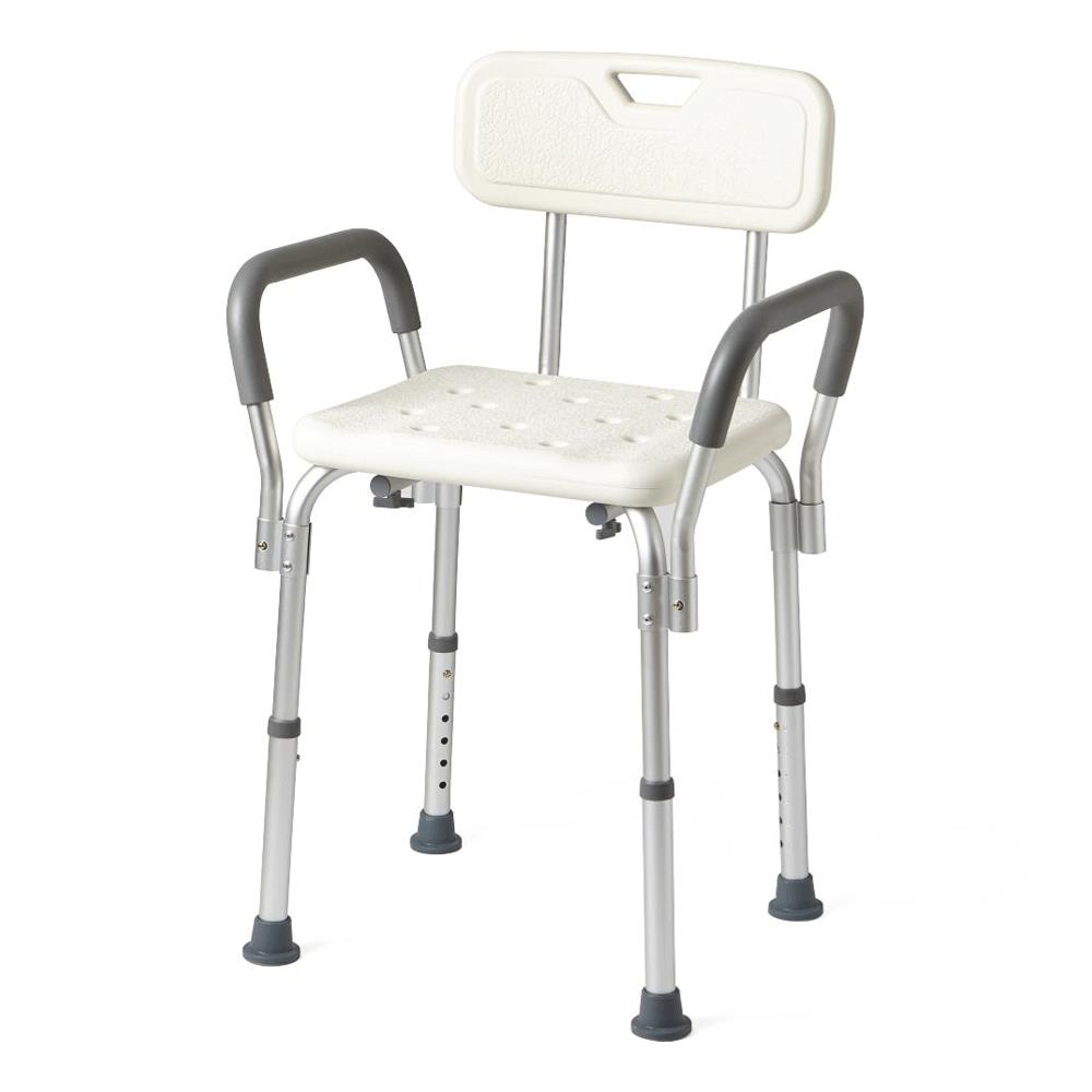 Medline Knockdown Bath Bench With Back | Shower Chairs