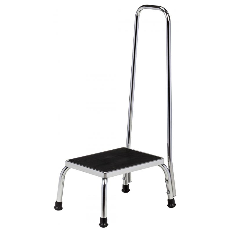 Clinton Chrome Step Stool With Handrail Medical Stools