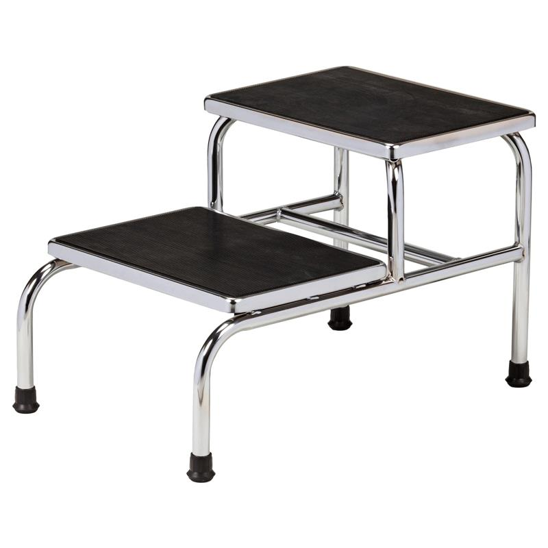 Clinton Chrome Two Step Step Stool Medical Stools