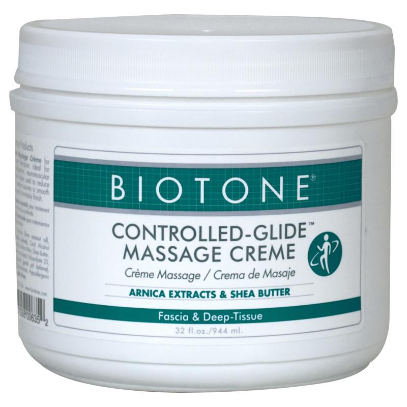 Biotone Dual Purpose Creme is a favorite creme of many massage therapy professionals, spas, chiropractors and various other health care providers. Described by many therapists as a combination of an oil and a cream, it is wonderful for the entire body, including the face.