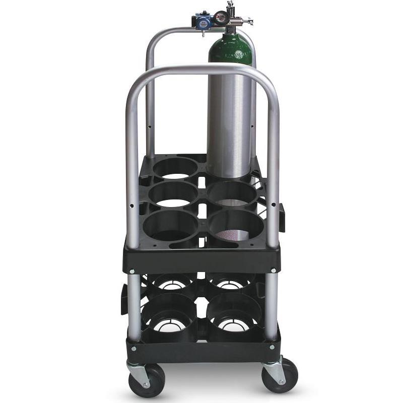 Medline Rack n Roll Modular Cylinder O2 Cart System
