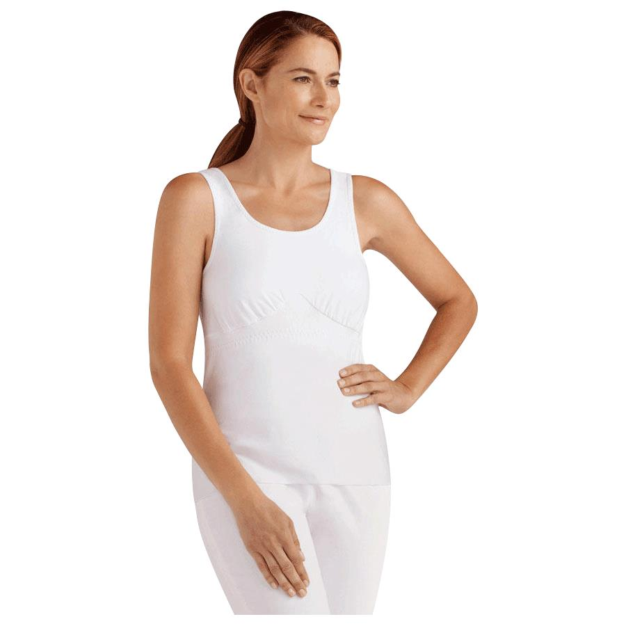 New Amoena Post-Surgery Camisole with Drain Management Removable Pouch