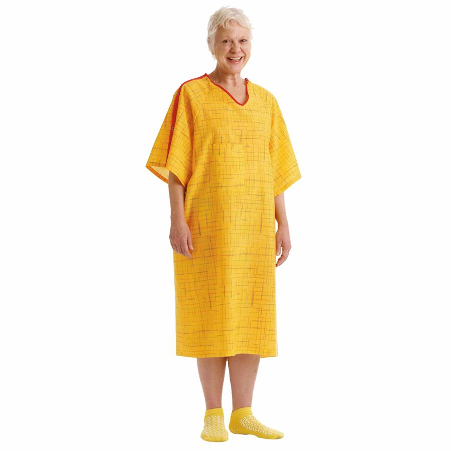 Medline PerforMAX Fall Prevention IV Gown | Patient Gown and Apparels