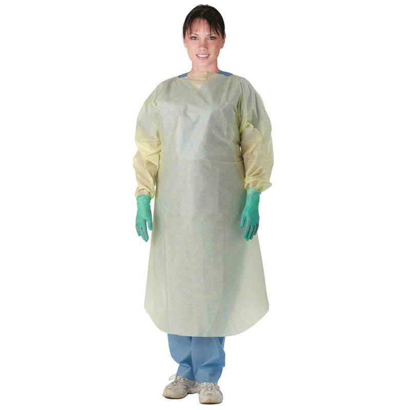 Medline Multi-Ply Over Head Open Back Isolation Gown | Isolation Gowns