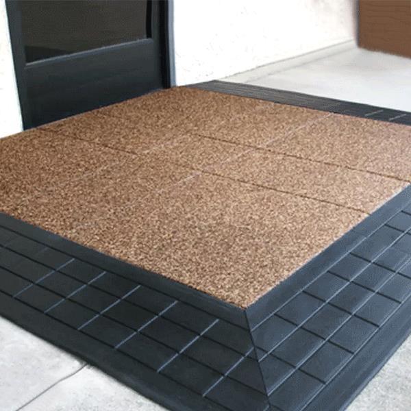 Safepath EZ Edge StoneCap Coated Rubber Threshold Ramp