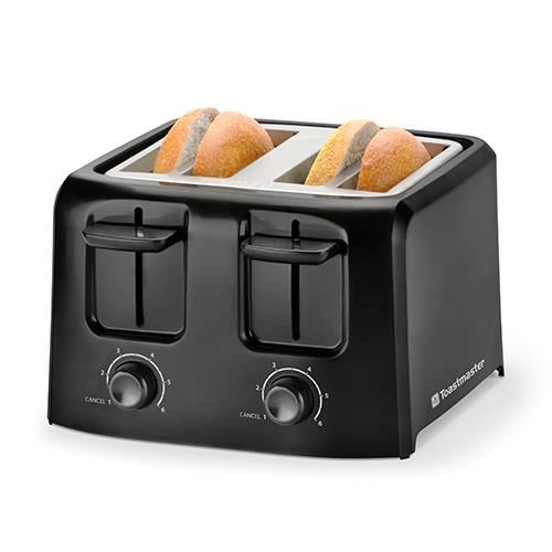 Toastmaster 4 Slice Cool Touch Black Toaster Appliances