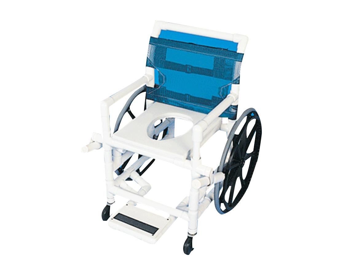 Healthline Medical Shower Commode Wheelchair | Bathroom Wheelchair