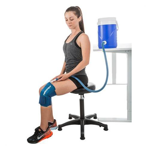 Aircast knee cryo cuff with ic cooler hot cold therapy for Cryo cuff ic motorized cooler