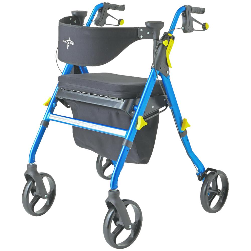 Medline Empower Deluxe Four Wheel Folding Rollator 4