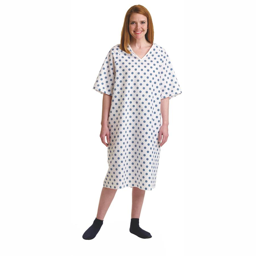 Medline Overlap Back Snap Patient Gowns | Patient Gown and Apparels