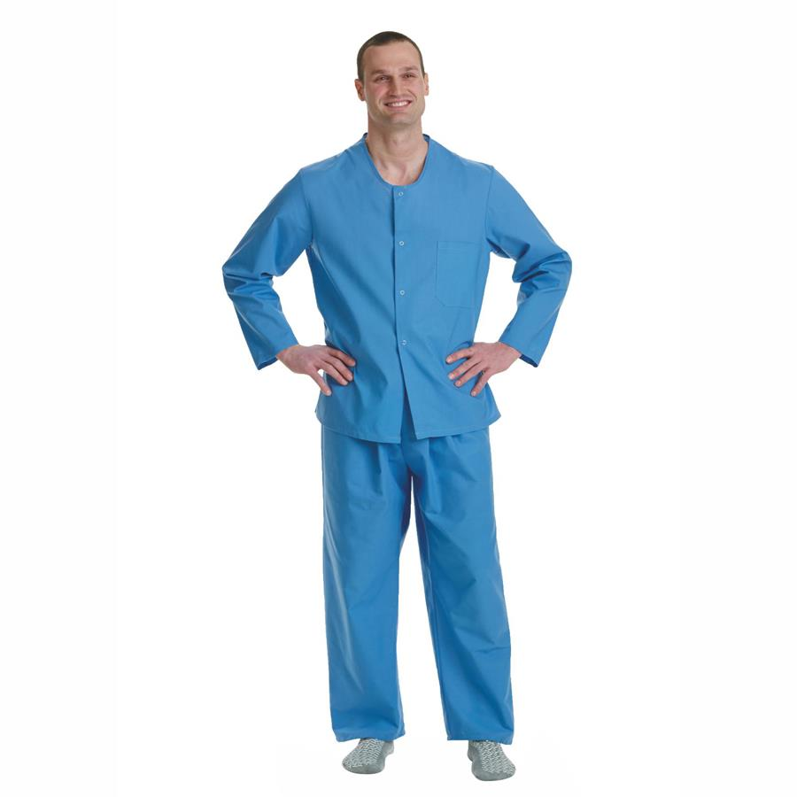 Medline Psychiatric Patient Snap Pajama Tops | Patient Gown and Apparels