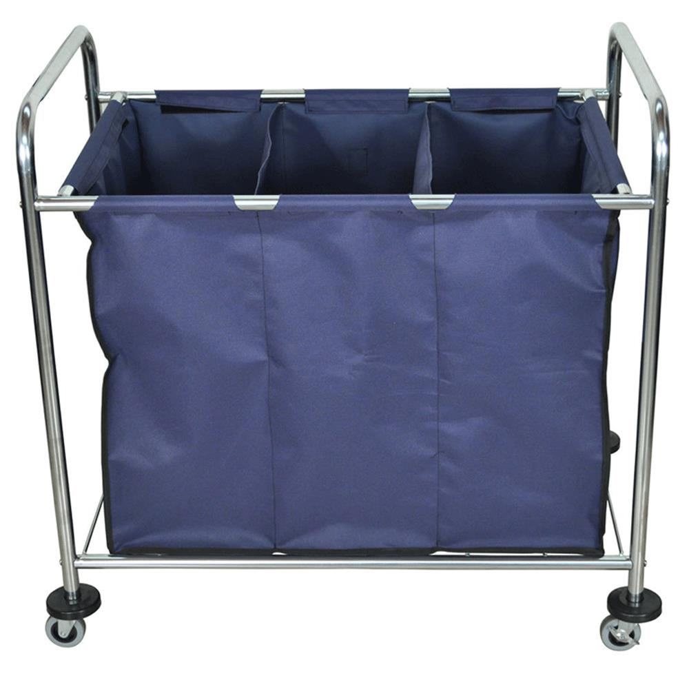 Luxor Industrial Laundry Cart With Dividers Medical Carts