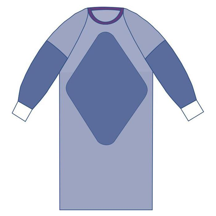 Medline Sterile Fabric-Reinforced Aurora Gowns with Raglan Sleeves ...