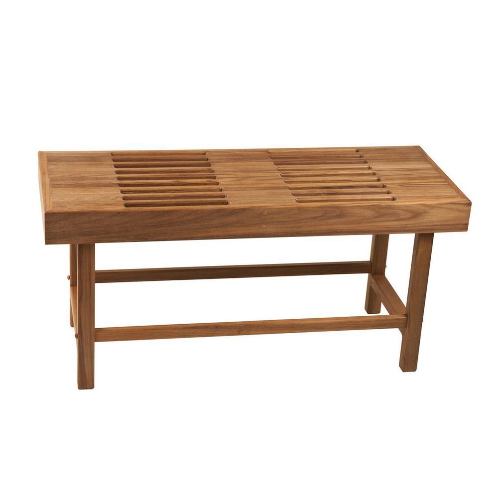 Teakworks4u Teak Rigid Leg Bench with Slats | Shower Chairs
