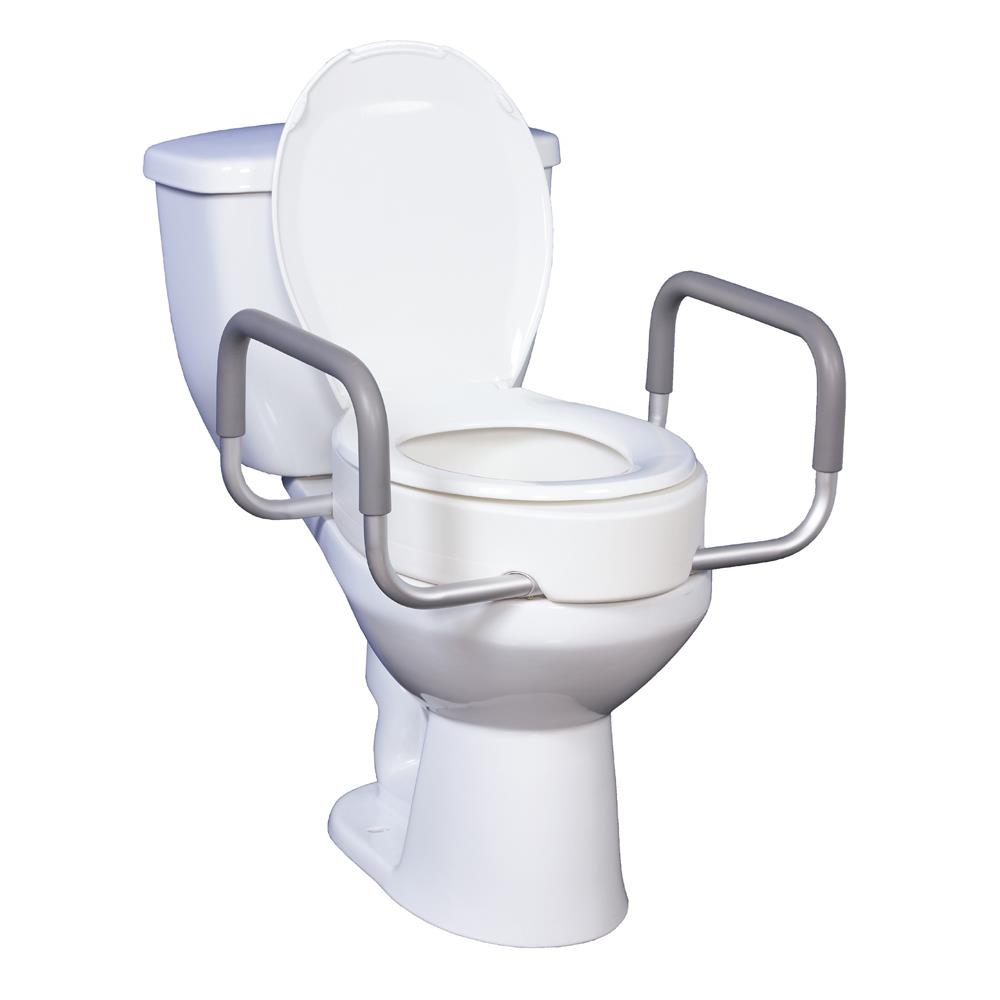 Peachy Drive Premium Raised Toilet Seat With Removable Arms Short Links Chair Design For Home Short Linksinfo