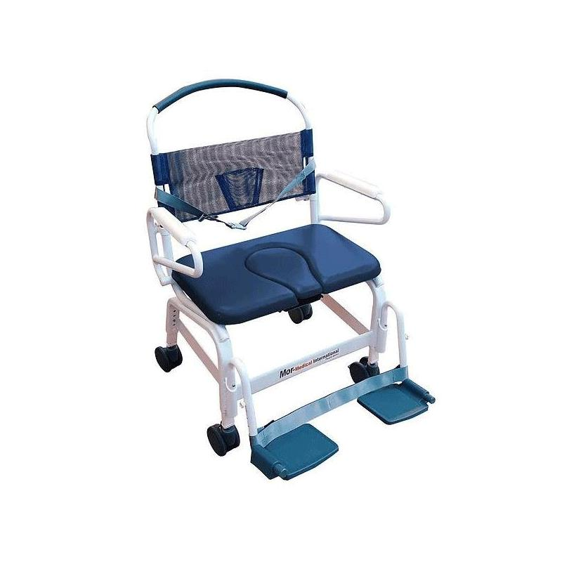Mor-Medical Euro Deluxe Rehab Shower Commode Chair | Rolling Shower ...