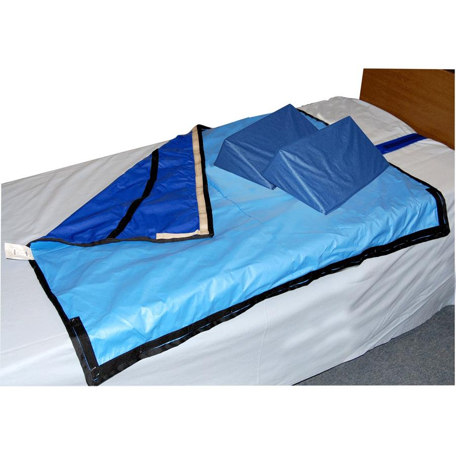 Skil Care 30 Degree Bariatric Bed System With Two Foam Wedges And Slider  Sheet