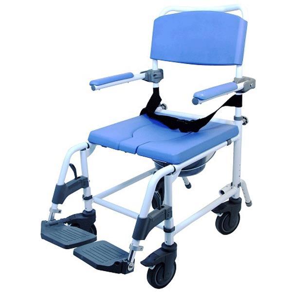 Healthline EZee Life 20 Inch Seat Aluminum Rehab Shower Commode Chair