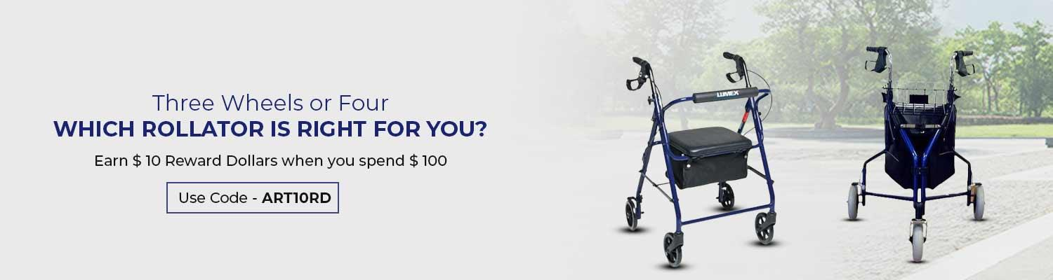 Three Wheels or Four: Which Rollator Is Right for You?