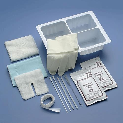 Cardinal Health Tracheostomy Care Set with Three-Compartment Tray
