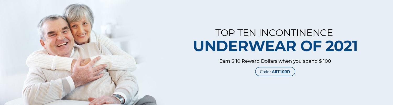 Top Ten Incontinence Underwear of 2021