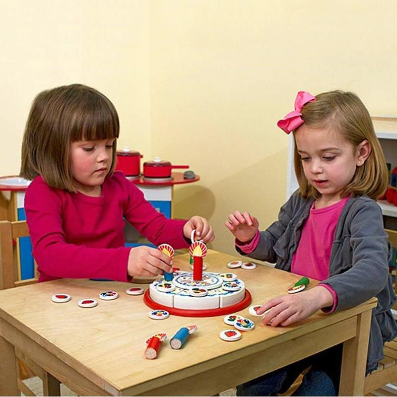 Melissa Doug Birthday Party Wooden Play Food Learning Toys