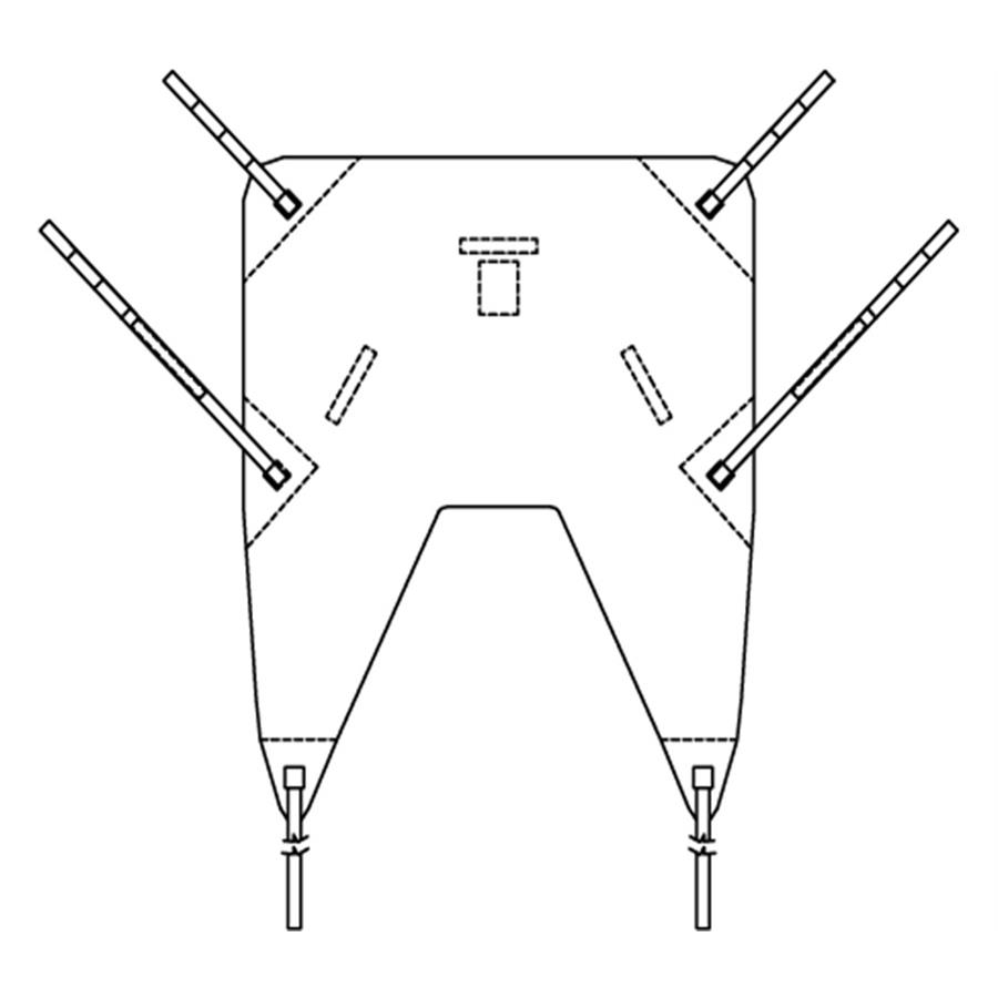 prism universal padded sling with head support