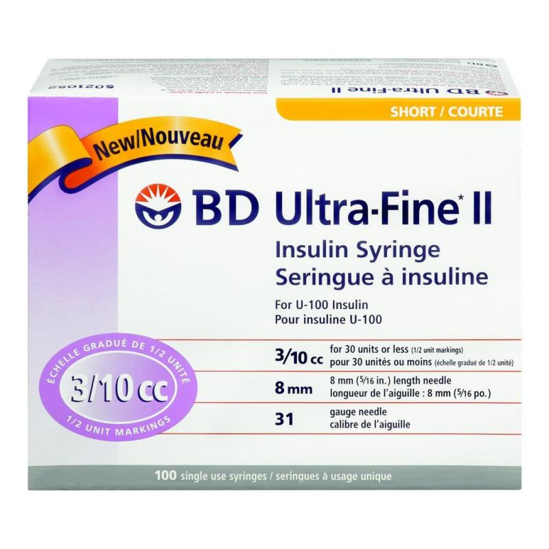 BD Ultra-Fine Short Needle Insulin Syringe
